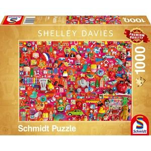 "Schmidt Spiele (59699) - Shelley Davies: ""Vintage Toys"" - 1000 piezas"