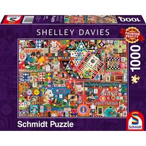 """Schmidt Spiele (59900) - Shelley Davies: """"Vintage Board Games"""" - 1000 piezas"""