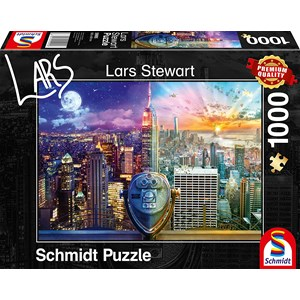 "Schmidt Spiele (59905) - Lars Stewart: ""New York, Night and Day"" - 1000 piezas"