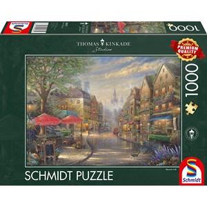 """Schmidt Spiele (59675) - Thomas Kinkade: """"Cafe in Munich"""" - 1000 piezas"""