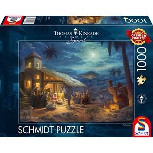 "Schmidt Spiele (59676) - Thomas Kinkade: ""Spirit, Jesus' Birt"" - 1000 piezas"