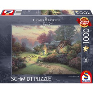 "Schmidt Spiele (59678) - Thomas Kinkade: ""Spirit, Cottage of the Good Shepherd"" - 1000 piezas"
