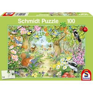 """Schmidt Spiele (56370) - """"Animals of the Forest"""" - 100 piezas"""