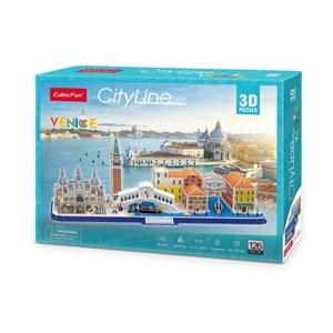 """Cubic Fun (mc269h) - """"Cityline Venice"""" - 126 piezas"""