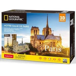 """Cubic Fun (ds0986h) - """"Notre-Dame de Paris"""" - 128 piezas"""