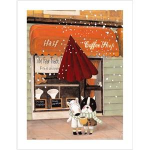 """Pintoo (h1708) - Nan Jun: """"Half, Coffee Shop"""" - 300 piezas"""