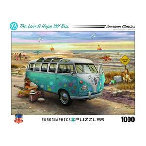 "Eurographics (6000-5310) - Greg Giordano: ""The Love & Hope VW Bus"" - 1000 piezas"