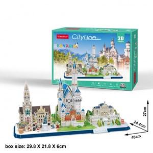 "Cubic Fun (mc267h) - ""Cityline, Bavaria"" - 178 piezas"