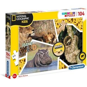 "Clementoni (27143) - ""Wildlife Adventure"" - 104 piezas"