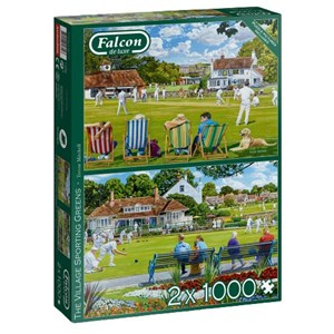 "Falcon (11309) - Trevor Mitchell: ""The Village Sporting Greens"" - 1000 piezas"