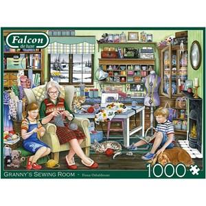 """Falcon (11273) - Fiona Osbaldstone: """"Granny's Sewing Room"""" - 1000 piezas"""