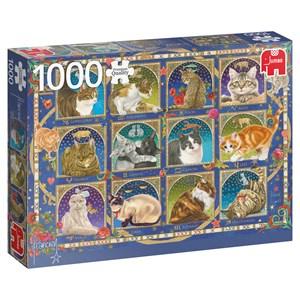 """Jumbo (18853) - Francien van Westering: """"Cat Horoscope"""" - 1000 piezas"""