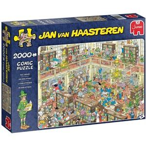 """Jumbo (20030) - Jan van Haasteren: """"The Library"""" - 2000 piezas"""