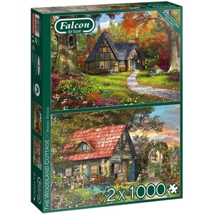 "Falcon (11294) - Dominic Davison: ""Woodland Cottages"" - 1000 piezas"