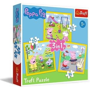 """Trefl (34849) - """"Peppa's happy day, Peppa Pig"""" - 20 36 50 piezas"""