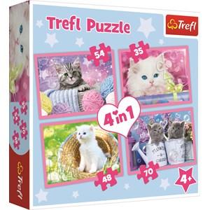 "Trefl (34330) - ""Kittens"" - 35 48 54 70 piezas"