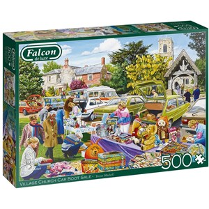 "Falcon (11301) - Trevor Mitchell: ""Village Church Car Boot Sale"" - 500 piezas"