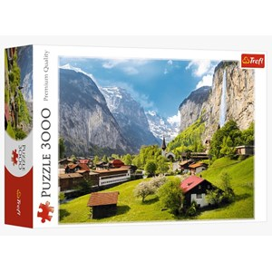 "Trefl (33076) - ""Lauterbrunnen, Switzerland"" - 3000 piezas"
