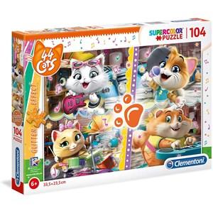 "Clementoni (27539) - ""44 Cats"" - 104 piezas"