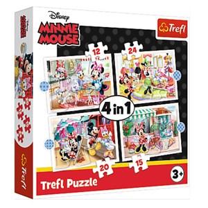 """Trefl (34355) - """"Minnie with Friends"""" - 12 15 20 24 piezas"""