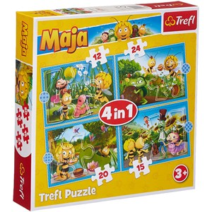 "Trefl (34356) - ""Maya the Bee Adventures"" - 12 15 20 24 piezas"