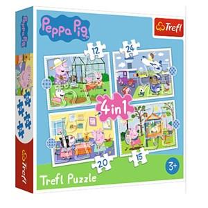 "Trefl (34359) - ""Holiday reccolection, Peppa Pig"" - 12 15 20 24 piezas"