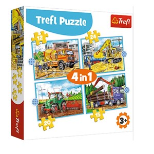 "Trefl (34353) - ""Large Construction Machines"" - 12 15 20 24 piezas"