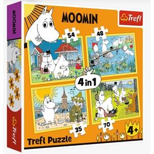 """Trefl (34368) - """"Moomin happy day"""" - 35 48 54 70 piezas"""