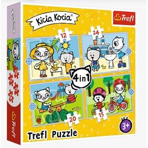 """Trefl (34372) - """"Kittykit day"""" - 12 15 20 24 piezas"""