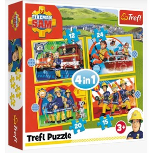 "Trefl (34373) - ""Helpful Fireman Sam"" - 12 15 20 24 piezas"
