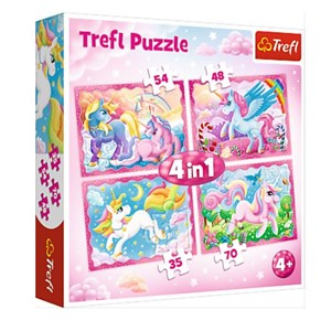 "Trefl (34321) - ""The Magical World of Unicorns"" - 35 48 54 70 piezas"