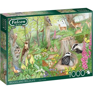"Falcon (11322) - Anne Searle: ""Woodland Wildlife"" - 1000 piezas"