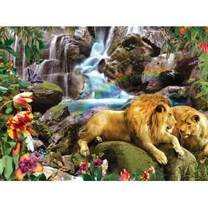 """SunsOut (48466) - Alixandra Mullins: """"Love Lion Waterfall"""" - 1000 piezas"""
