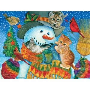 "SunsOut (71984) - Amy Rosenberg: ""Snowman Cuddles"" - 500 piezas"