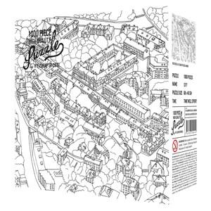 "Kylskåpspoesi (00549) - ""City Sketch"" - 1000 piezas"