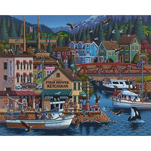 "Dowdle Folk Art (00245) - Eric Dowdle: ""Ketchikan, Alaska"" - 500 piezas"