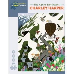 """Pomegranate (AA927) - Charley Harper: """"The Alpine Northwest"""" - 1000 piezas"""