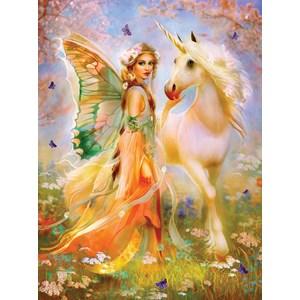 "SunsOut (49006) - Bente Schlick: ""Fairy Princess and Unicorn"" - 1000 piezas"