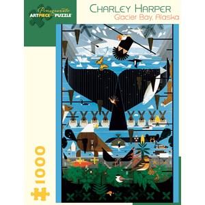 "Pomegranate (AA639) - Charley Harper: ""Glacier Bay, Alaska"" - 1000 piezas"