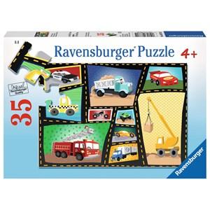 "Ravensburger (08781) - Karen Rossi: ""Tires & Engines"" - 35 piezas"
