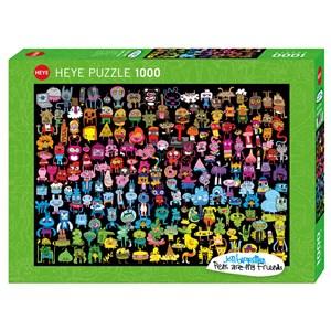 """Heye (29786) - Jon Burgerman: """"Doodle Rainbow"""" - 1000 piezas"""