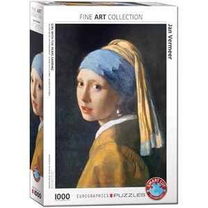 "Eurographics (6000-5158) - Johannes Vermeer: ""Girl with the Pearl Earring"" - 1000 piezas"