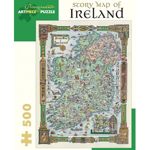 "Pomegranate (AA852) - ""Story Map Of Ireland"" - 500 piezas"
