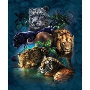 """SunsOut (52416) - Tami Alba: """"Big Cat Prowess"""" - 1000 piezas"""