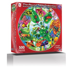 """A Broader View (372) - Michael Searle: """"Creepy Critters (Round Table Puzzle)"""" - 500 piezas"""