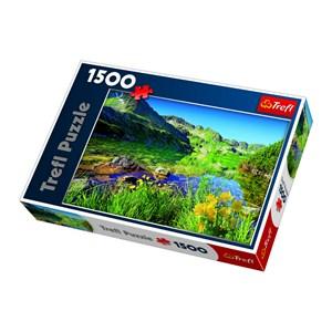 """Trefl (260892) - Jan Wlodarczyk: """"Wielki Staw Lake, the Tatras"""" - 1500 piezas"""