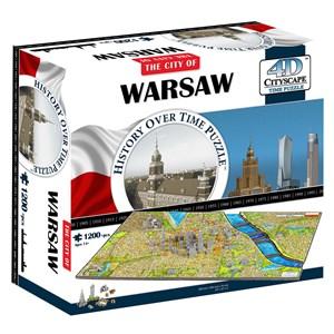 "4D Cityscape (40064) - ""Warsaw, Poland"" - 1200 piezas"