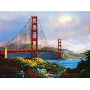"""SunsOut (48505) - Charles White: """"Morning at the Golden Gate"""" - 1000 piezas"""