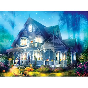"SunsOut (52060) - Joel Christopher Payne: ""Halloween Lane House"" - 1000 piezas"