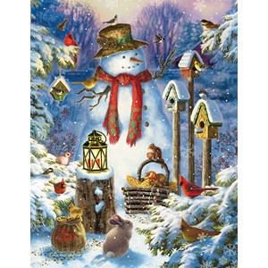 "SunsOut (59794) - Liz Goodrick-Dillon: ""Snowman in the Wild"" - 1000 piezas"